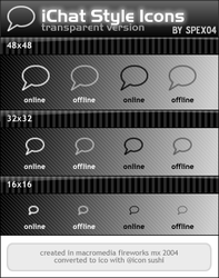iChat Style Icons - Trans by spex04