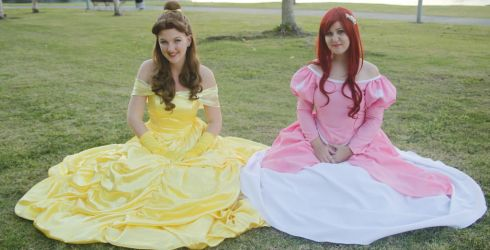 Ariel and Belle by Sarah-Pumpkin