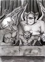 Gargoyles The Trio by HollyRoseBriar