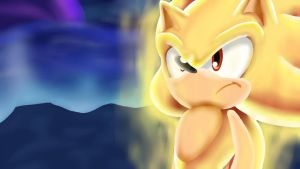 Super Sonic 3D Style By SparksChannel [Mikey] by SparksChannel6