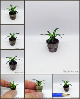 Miniature Potted Plant by Maylar