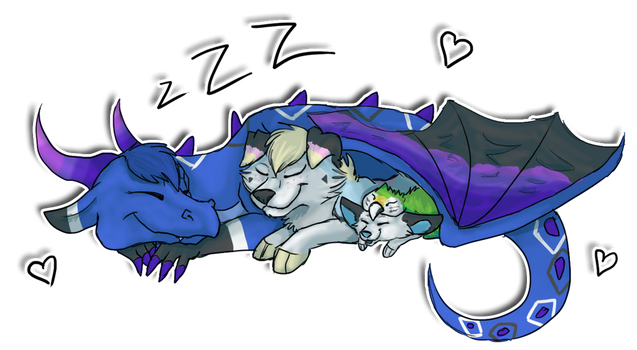 Who doesn't like a good nap? by Frosted-Monster