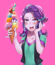 Starlight Glimmer and Ice Cream by iojknmiojknm