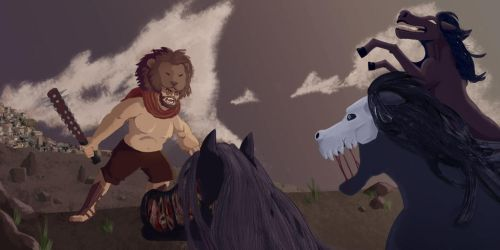 Heracles: The Mares of Diomedes by kaithebox