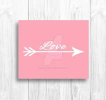 Pink Love Arrow Vector Printable by Thelildesigns