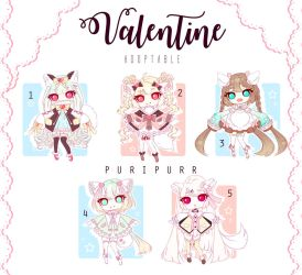 [CLOSED] Adoptable 93 - Valentine Adoptable by Puripurr