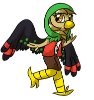 Birb Person (CLOSED) by DoodlesAndDingbats