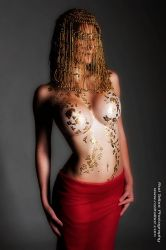 Gold Leaf by modelbeeny