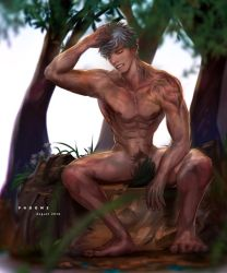Male In The Forest by poomkup