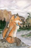 Lakeside Vixen by SpottedNymph