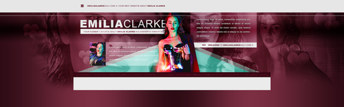 Emilia Clarke PSD Header by BrielleFantasy