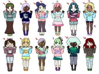 Paired Sweater Point Adopts [CLOSED] by FrozenDiamond267