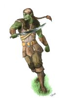 Half-Orc Character Comission by DonKringel