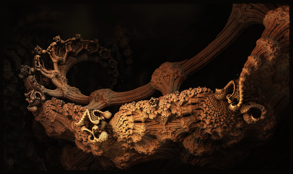 Carved Dragon Bone Detail by audre