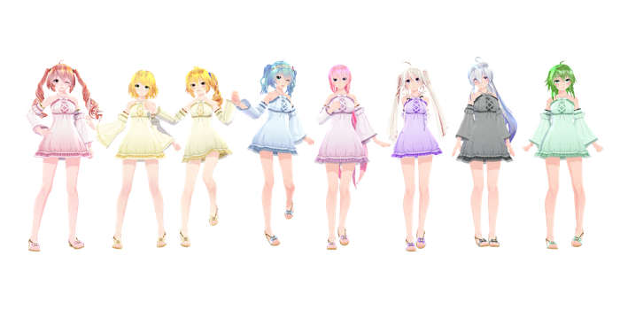 TDA Halter One Piece - MMD DL by Meennie46