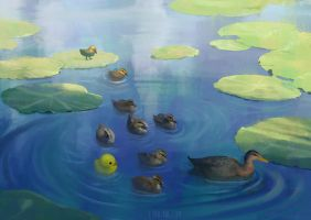 Little Ducks by Lyraina