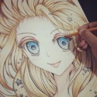 Drawing Elsa... :'D by ilovetheanime