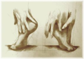 Feet Study (OJZ 2004) by OJZEIDLER