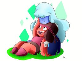 Ruby and Sapphire by NeonCelestia20