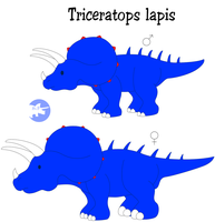 Triceratops lapis by DinoLover09