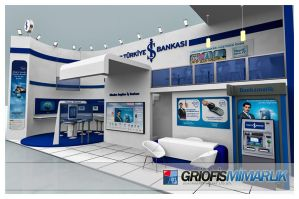 Is Bankasi Exhibition Stand 3D by GriofisMimarlik