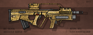 Fictional Firearm: HC-H36K Assault Rifle by CzechBiohazard