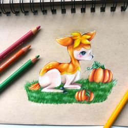 Autumn Deerling by Galactic-sky-99
