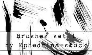 Brushes SET 1 by ephedrina-stock
