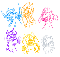 Mane Six Extreme Style by Mickeymonster