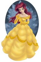 + ARIEL as BELLE + by Opal-I