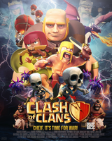 Clash of Clans Movie Poster Contest Entry by JROD707