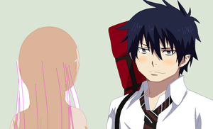 Blue Exorcist-Rin and Oc Base by TFAfangirl14