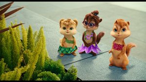 Squeakquel Chipettes flower outfits by ubidragon