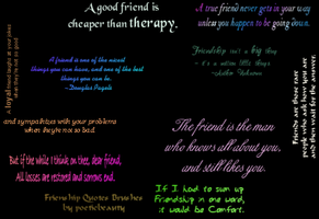 Friendship Quote Brushes by nothinsacrednic