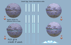 Sonic Generations Custom Sprite Edit- Death Egg by Wilson-M28