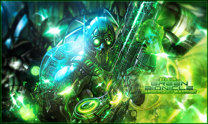 Green bionicle by Kelkun94