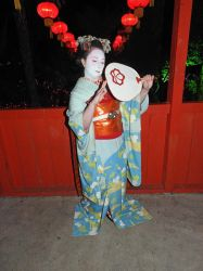 Summer maiko ensemble cosplay by GothicLionheart