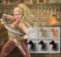 Action Ponytail #2 by Trisste-stocks