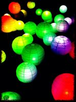 Electric Balloons - Rainbow by MovesInSilence