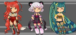 Kemonomimi Adoptables - Auction [CLOSED] by faycoon