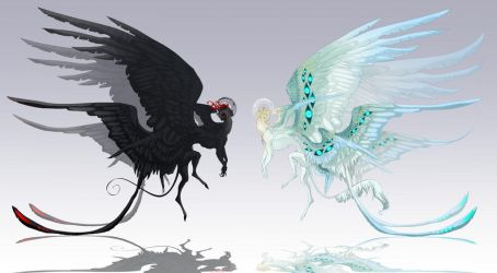 Demon and Angel: Adoptable CLOSED by Tytoz