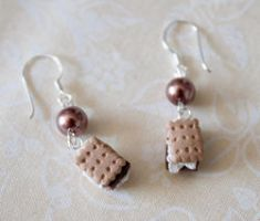 Smores Earrings by YourSweetTreat