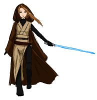 Jedi Girl Doodle by StarRaven