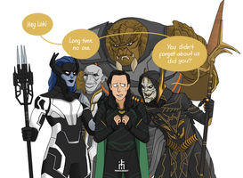 Loki and The Black Order by pencilHead7
