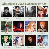 2014 Art Summary by Almerious