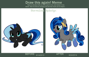 Stormcloud Redesign - Draw this Again Meme by Owl-Parchment