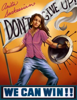 Anita Sarkeesian Poster by Christopher-Stoll