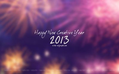 Happy New Creative Year 2013 Wallpaper-Pack by wellgraphic