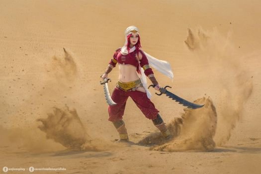 Sandstorm Katarina cosplay - League of Legends I. by EnjiNight