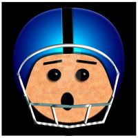Helmet Head Football Player by kashmier